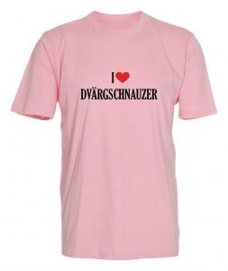 """T-shirt """"I Love"""" Dvärgschnauzer"""