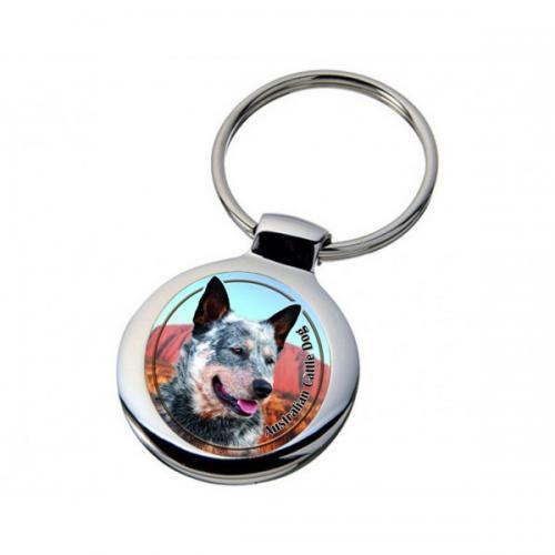 Nyckelring med Australian Cattle Dog