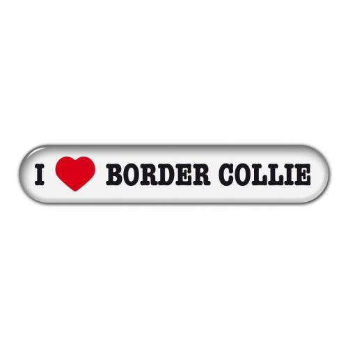 """Dekal """" I Love"""" Border Collie"""
