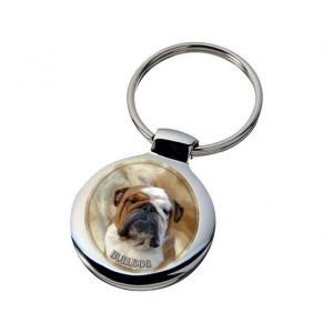 Nyckelring med Engelsk Bulldogg