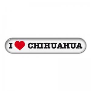 """Dekal """" I Love"""" Chihuahua"""
