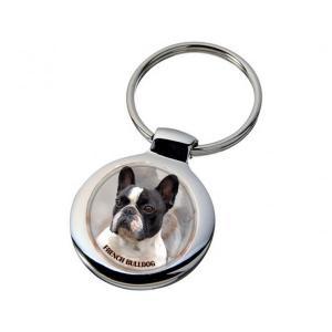 Nyckelring med Fransk Bulldogg