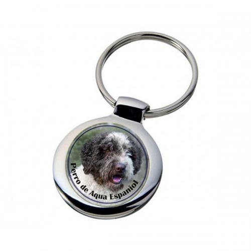 Nyckelring med Perro de Agua Espanol