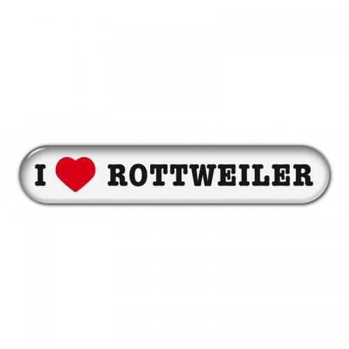 "Dekal "" I Love"" Rottweiler"
