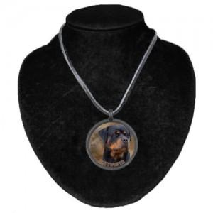 Halsband med Rottweiler