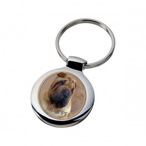 Nyckelring med Shar Pei