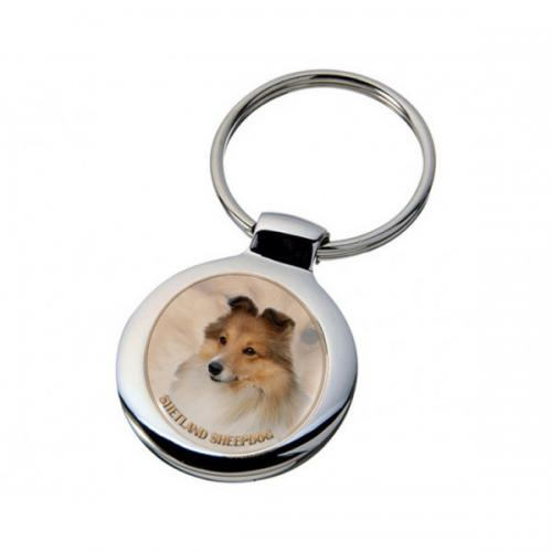 Nyckelring med Shetland Sheepdog