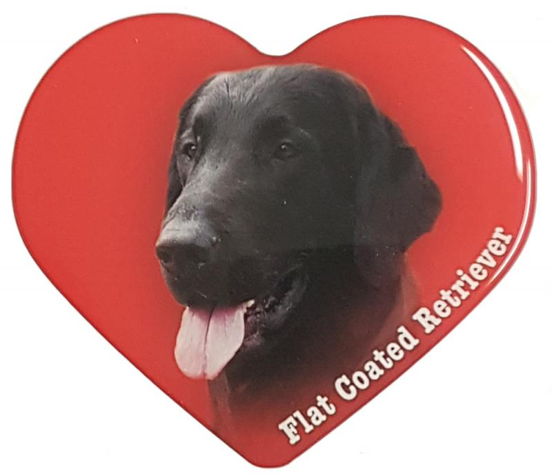 Dekal med Flatcoated Retriever