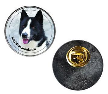 Pin med Karelsk Björnhund