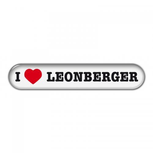 """Dekal """" I Love"""" Leonberger"""