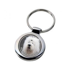 Nyckelring med Old English Sheepdog