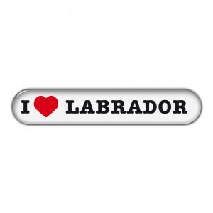"""Dekal """" I Love"""" Labrador"""