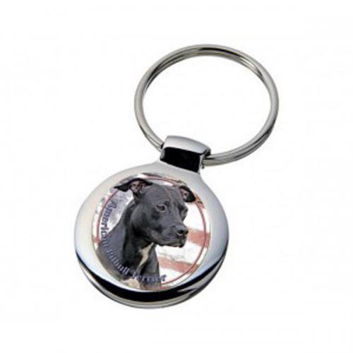 Nyckelring med American Pitbullterrier