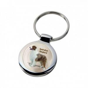 Nyckelring med Australian Shepherd