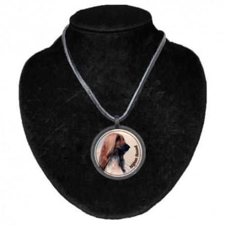 Halsband med Afghanhund