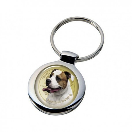 Nyckelring med Amerikansk Bulldog