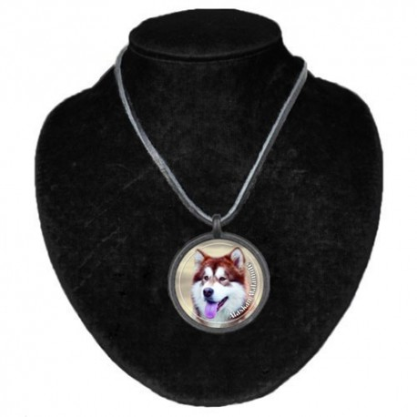 Halsband med Alaskan Malamute