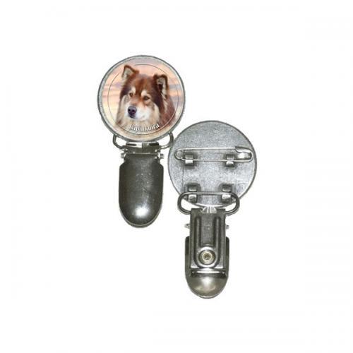 Nummerlappshållare med Finsk Lapphund