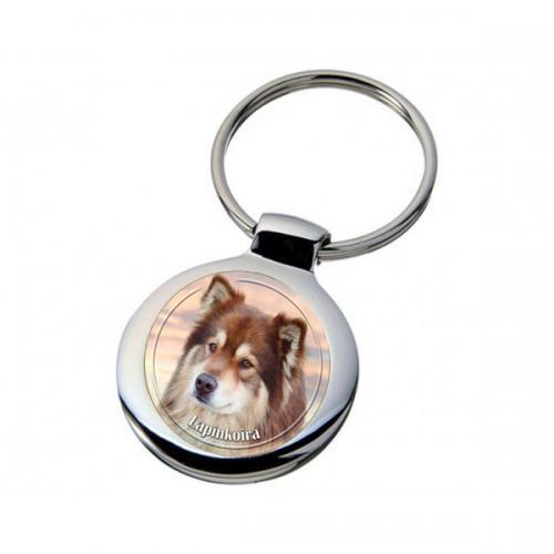 Nyckelring med Finsk Lapphund