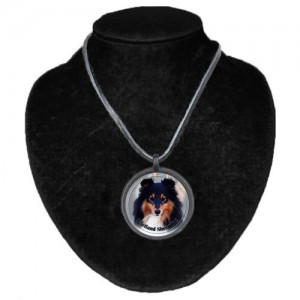 Halsband med Shetland Sheepdog