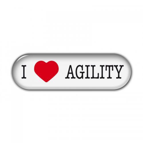 """Dekal """" I Love"""" Agility"""