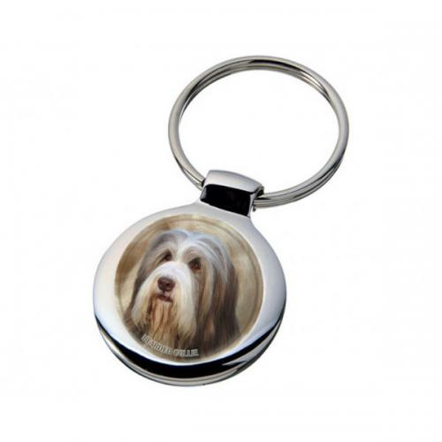 Nyckelring med Bearded Collie