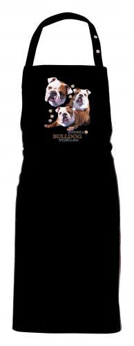Grillförkläde med Engelsk Bulldogg