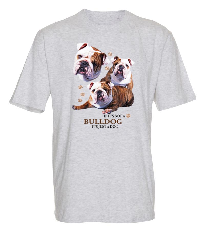 T-shirt med Engelsk Bulldogg