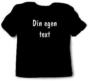 T-shirt med egen text