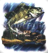 Tygkasse med fiskemotiv