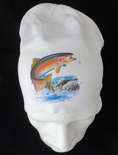 Mössa med fiskemotiv
