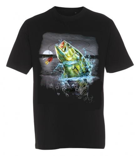 T-shirt med Fiskemotiv