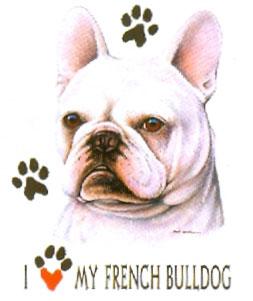 T-shirt med Fransk Bulldog