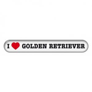 "Dekal "" I Love"" Golden Retriever"