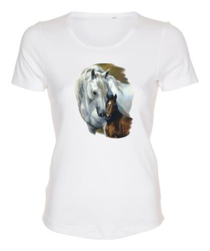 Figursydd t-shirt med hästmotiv