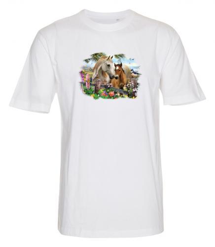 T-shirt i barnstorlekar med Hästmotiv