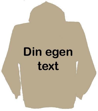 Huvjacka med egen text stil 2