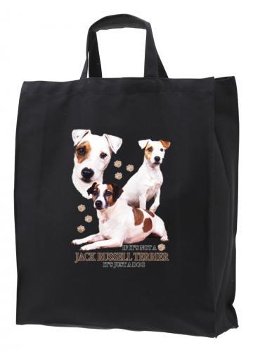 Tygkasse med Jack Russel Terrier