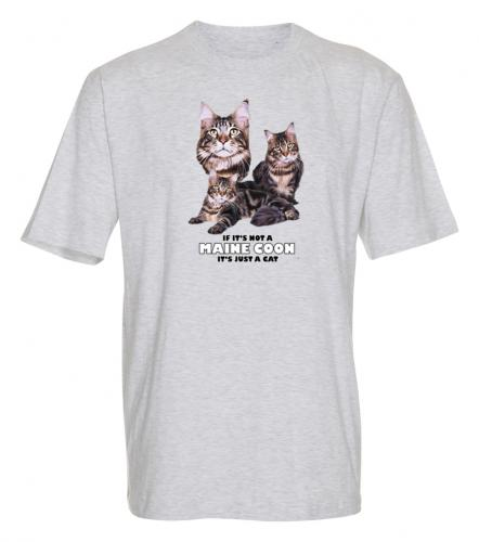 T-shirt med Maine Coon