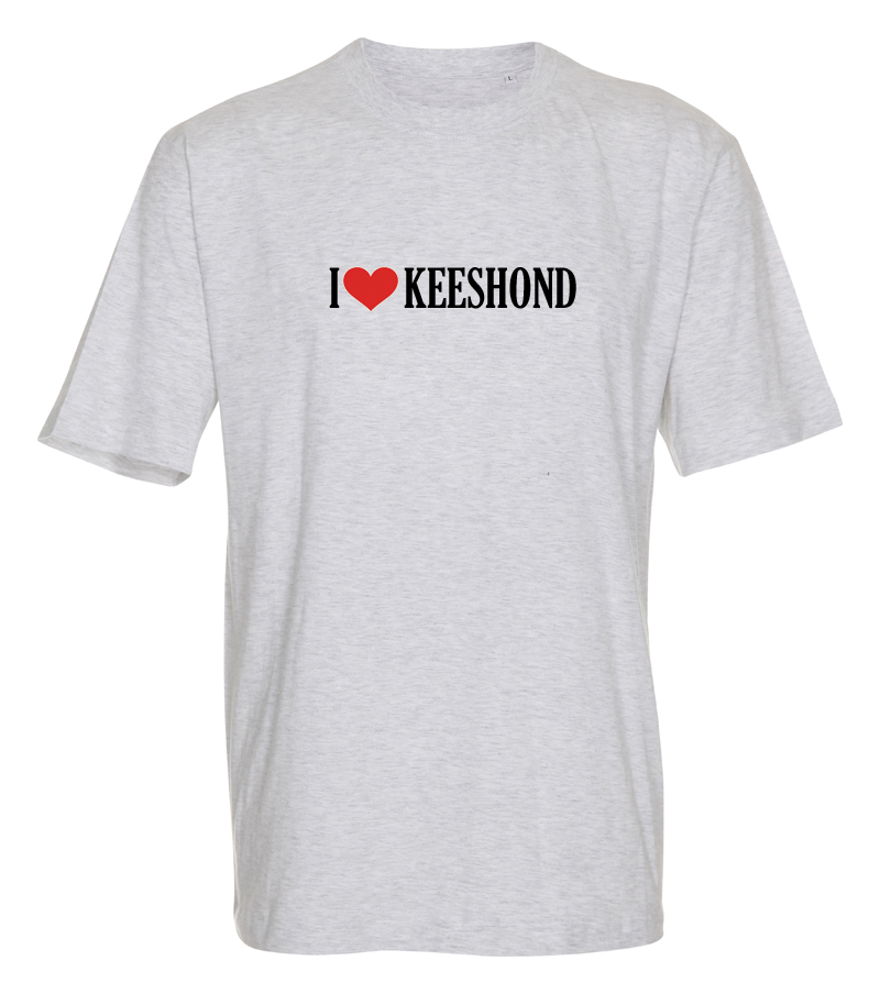 "T-shirt ""I Love"" Keeshond"