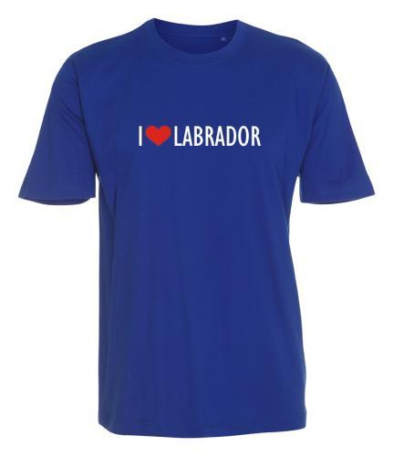 """T-shirt """"I Love"""" Labrador"""