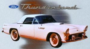 T-shirt med Ford Thunderbird