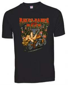 T-shirt med ett Bikermotiv