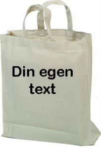 Tygkasse med egen text stil 2
