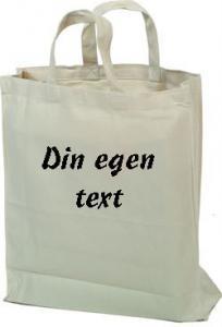 Tygkasse med egen text stil 3