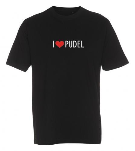 """T-shirt """"I Love"""" Pudel"""