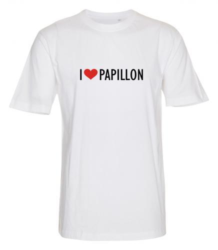 """T-shirt """"I Love"""" Papillon"""