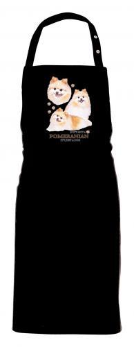 Grillförkläde med Pomeranian