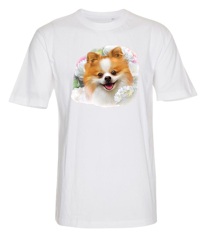 T-shirt med Pomeranian