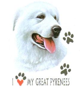 T-shirt med Pyreneérhund